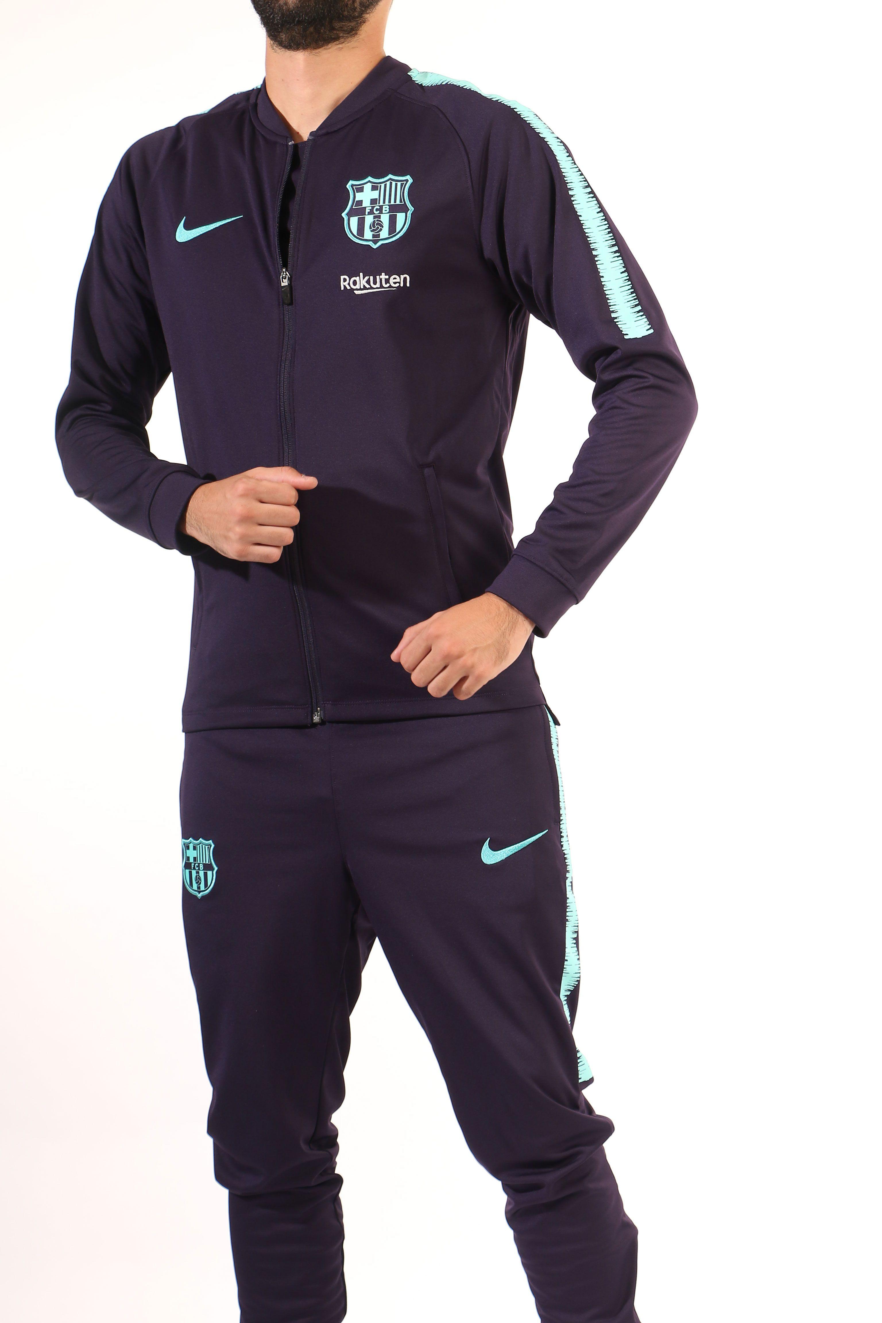 Chándal de paseo Nike del FC Barcelona 2018 - 2019 - morado 95abfd7cd84