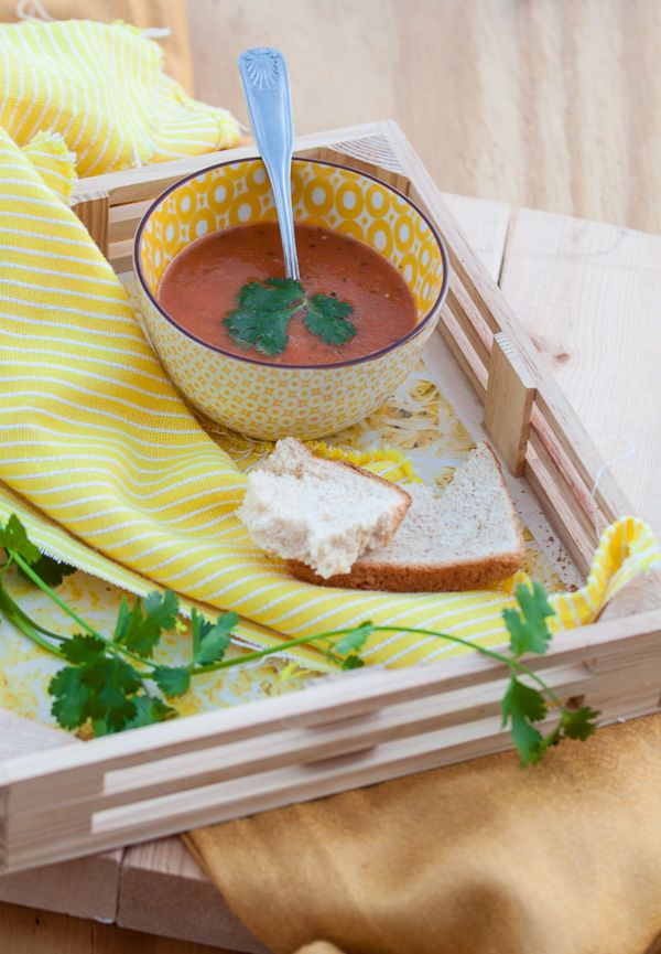 Roasted Zesty Tomato Soup with Spiced Oil | Best Friends For Frosting