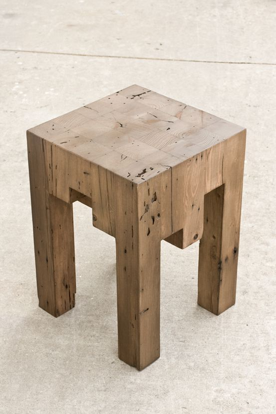 Fun Little Side Table Made Of Reclaimed Redwood X Fence Posts The - Redwood side table