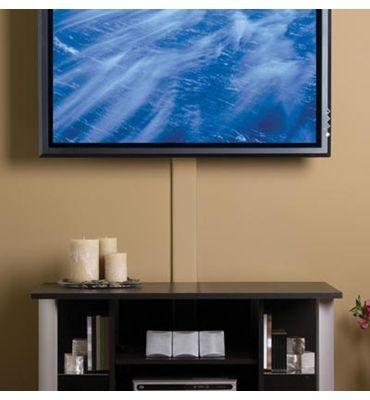 Flat Screen Tv Cord Cover Kit Cmk30 By Legrand Wall Mounted Tv Wall Mounted Tv Decor Tv Wall