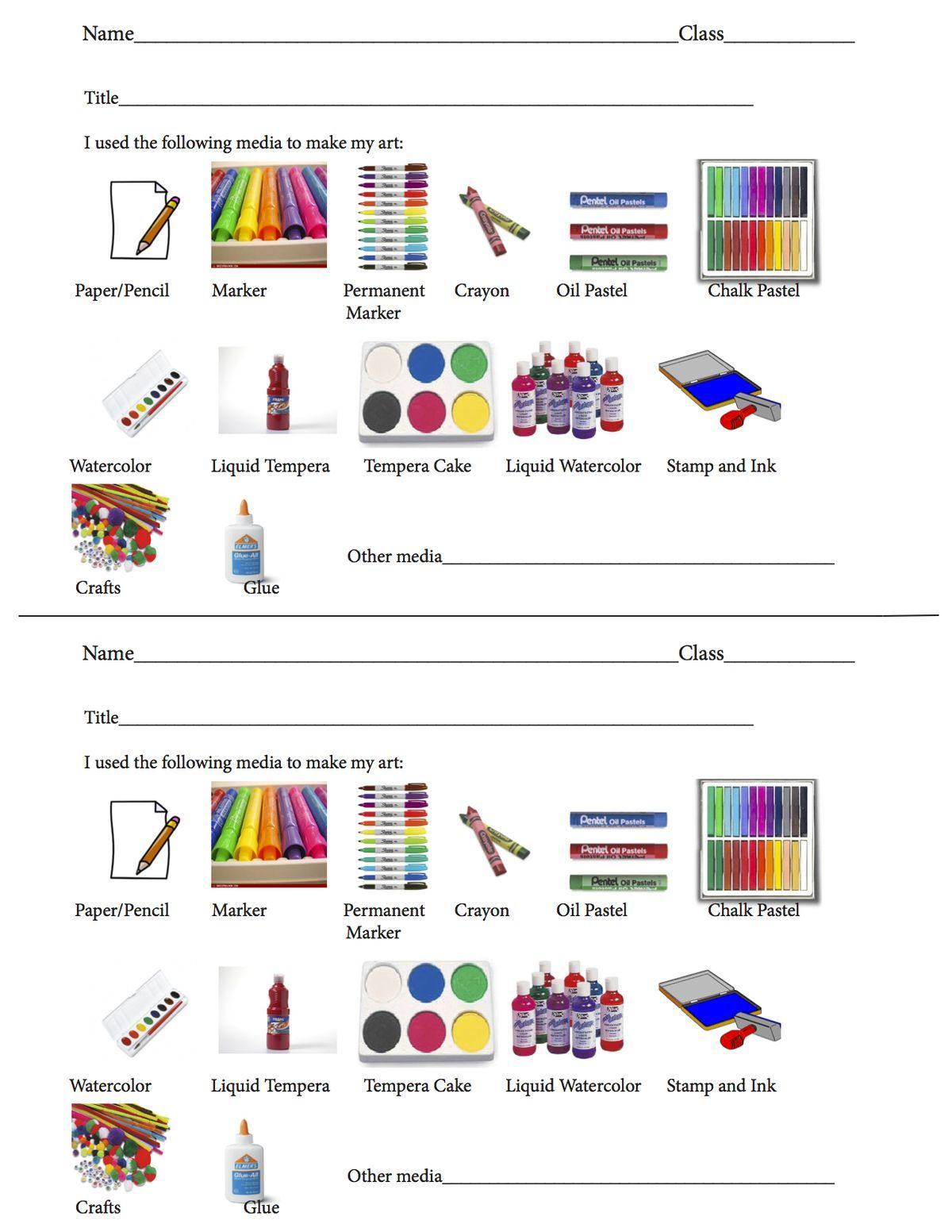 Elementary Art Critique Worksheet