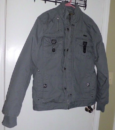 Imperious Gray 100 Cotton Size Xl Front Zipper With Clip Long