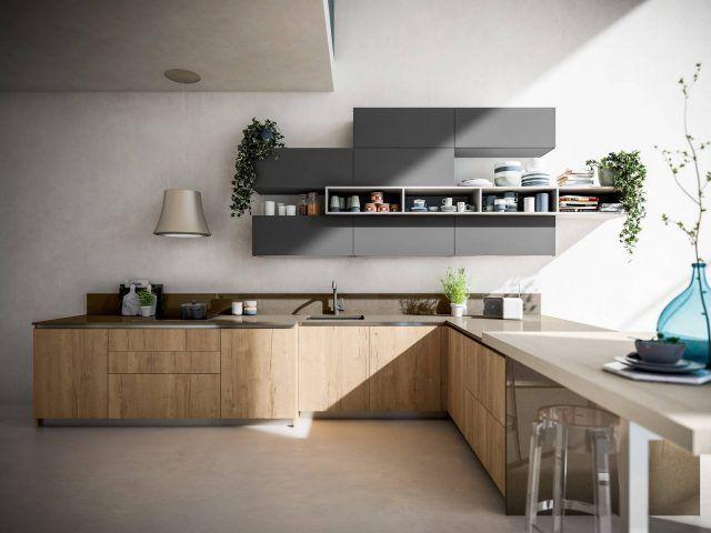 Cucina effetto legno: la bellezza dell\'essenza con i ...