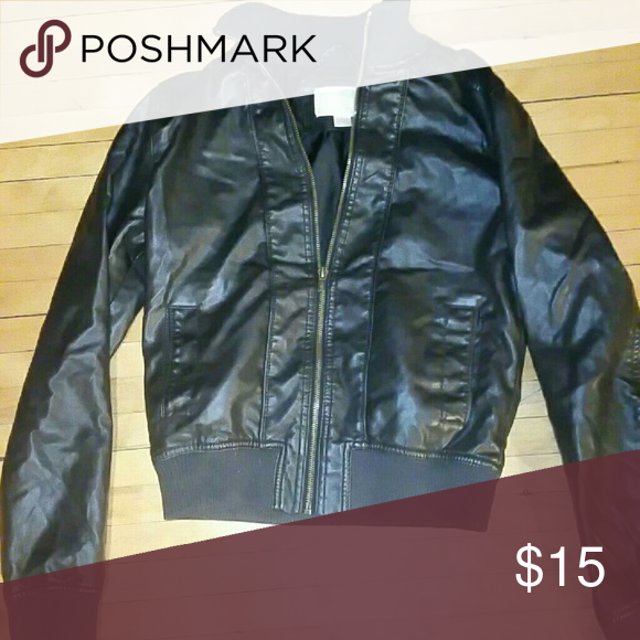 Leather jacket Cute leather coat, small! Just have too many. Worn few times, like new Jackets & Coats Utility Jackets