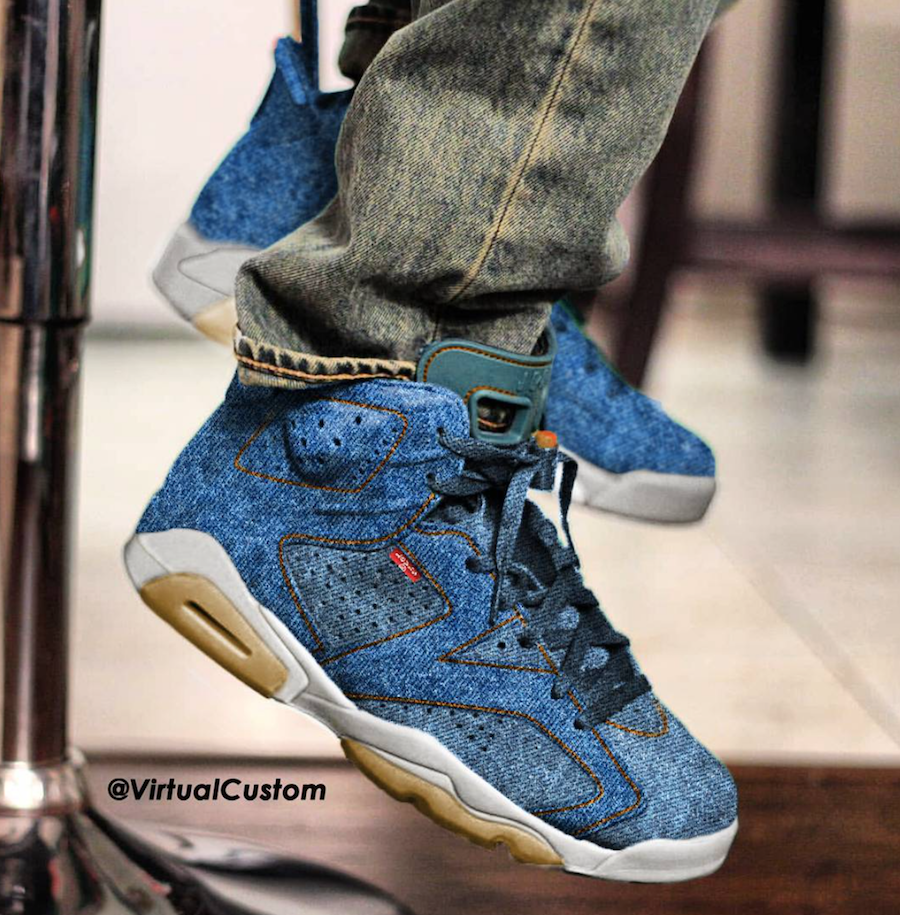 Levis Air Jordan 11 Jordan 6 Custom | The Fresh Maker | Air