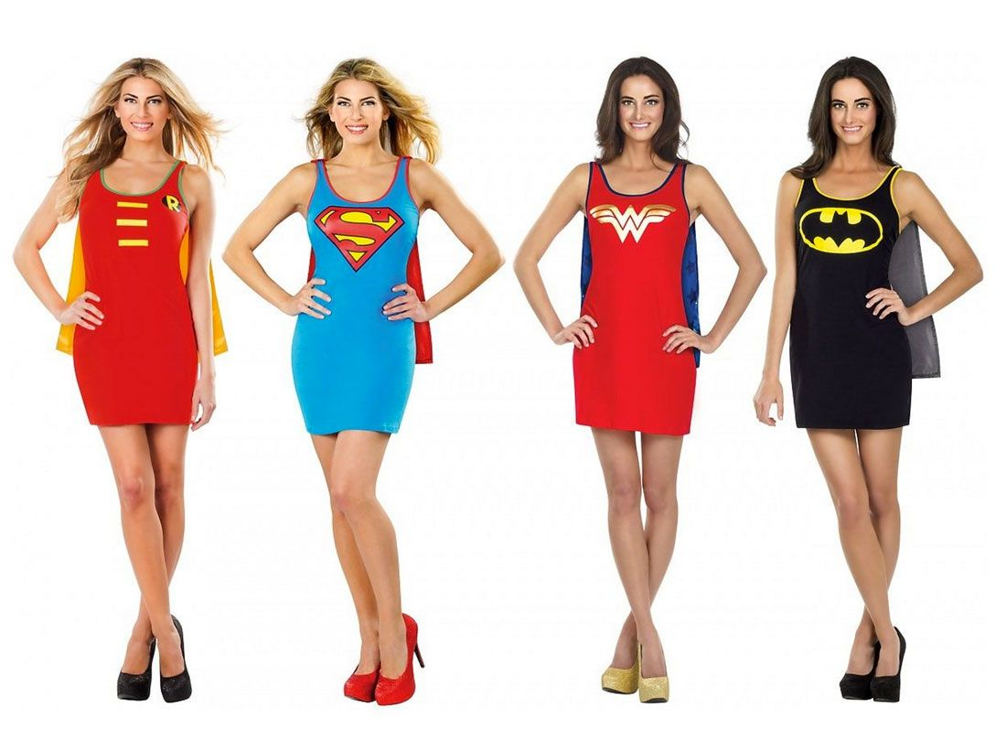 These superhero tank dresses make for amazing + easy Halloween costumes.  sc 1 st  Pinterest & 20 Superhero Halloween Costumes for Kids Grown-Ups *AND* Dogs ...