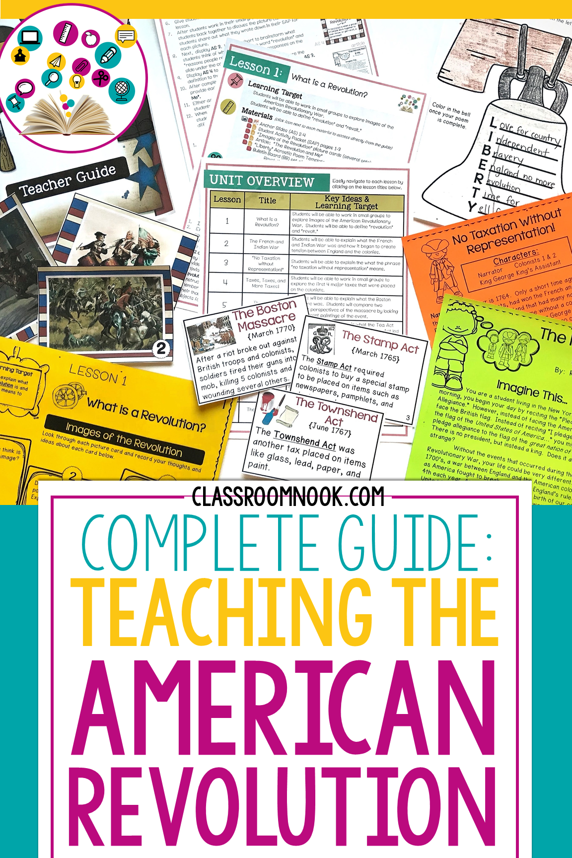 American Revolutionary War Complete Unit Classroom