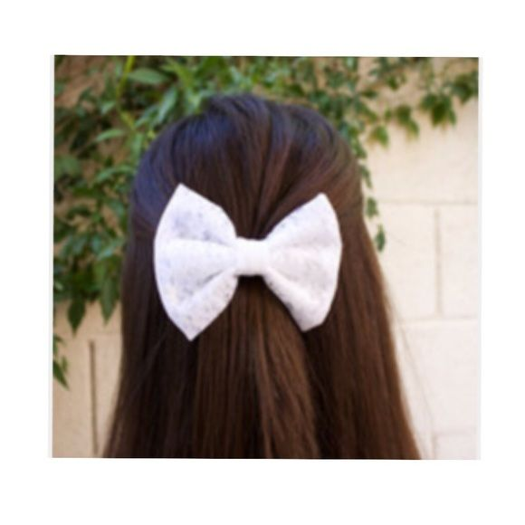 Hair bows Orange & cream colored. FREE with bundle purchase Brandy Melville Accessories Hair Accessories