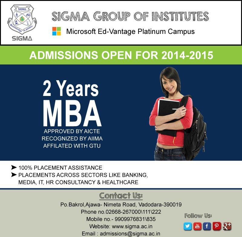 Planning M.B.A After Graduation? Come Join Sigma Institute