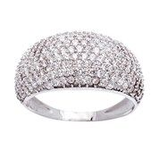 Sterling Silver CZ Dome Ring