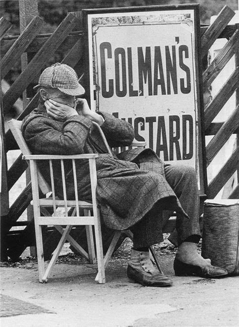 Peter Cushing on the set of Sherlock Holmes