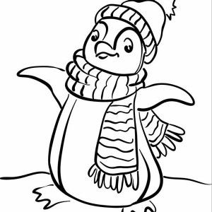 A Realistic Drawing of Humboldt Penguin Coloring Page: A Realistic ...
