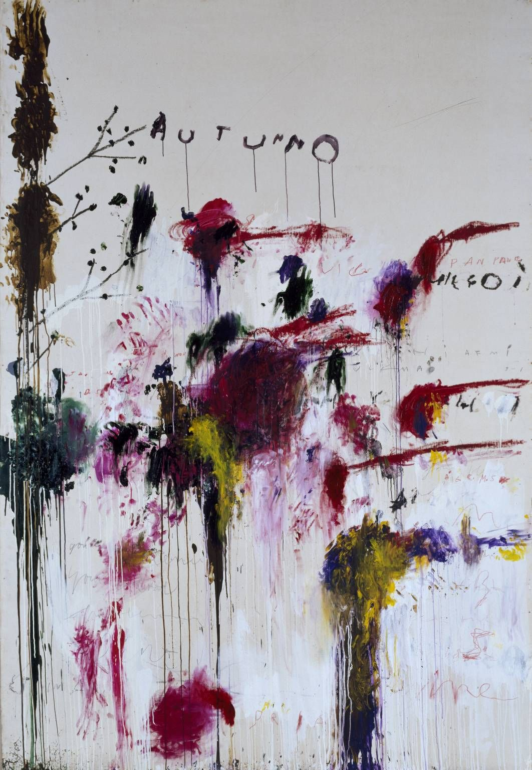 Cy Twombly, Quattro Stagioni: Autunno, from Quattro Stagioni (A Painting in Four Parts), 1993-5, Tate Gallery, London