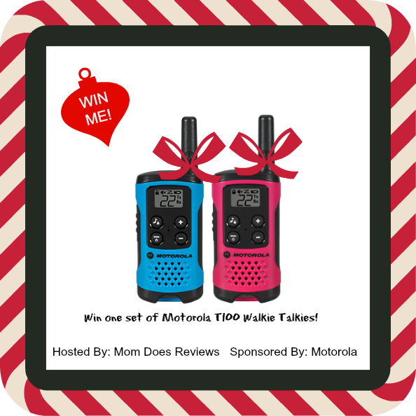 WIN a set of  Motorola T100 Talkabout Walkie Talkies! Simple, compact and easy-to-use by the entire family, the T100 is the perfect way to stay in touch when out and about, whether at the playground, hiking in the park or enjoying a picnic. This colorful...