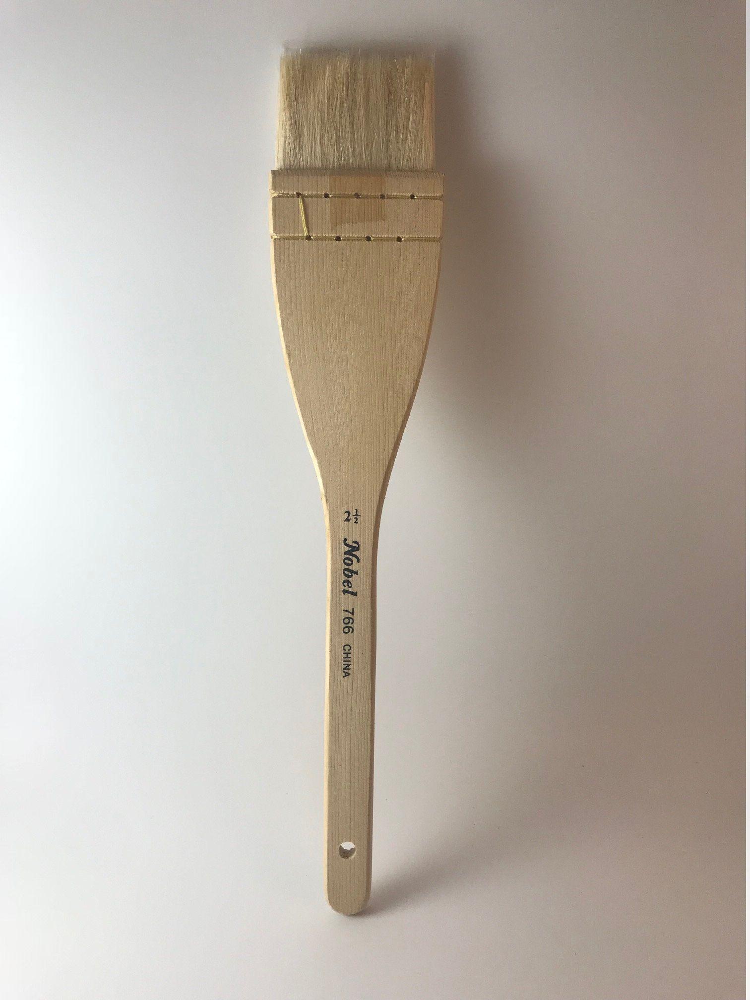 Hake Brush 2 1 2 Wide Flat Paintbrush Goat Hair Artist Brush Paint Brushes Wide Flats