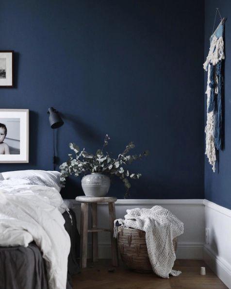 Best 25 Dark Blue Bedrooms Ideas On Pinterest Wall Decor