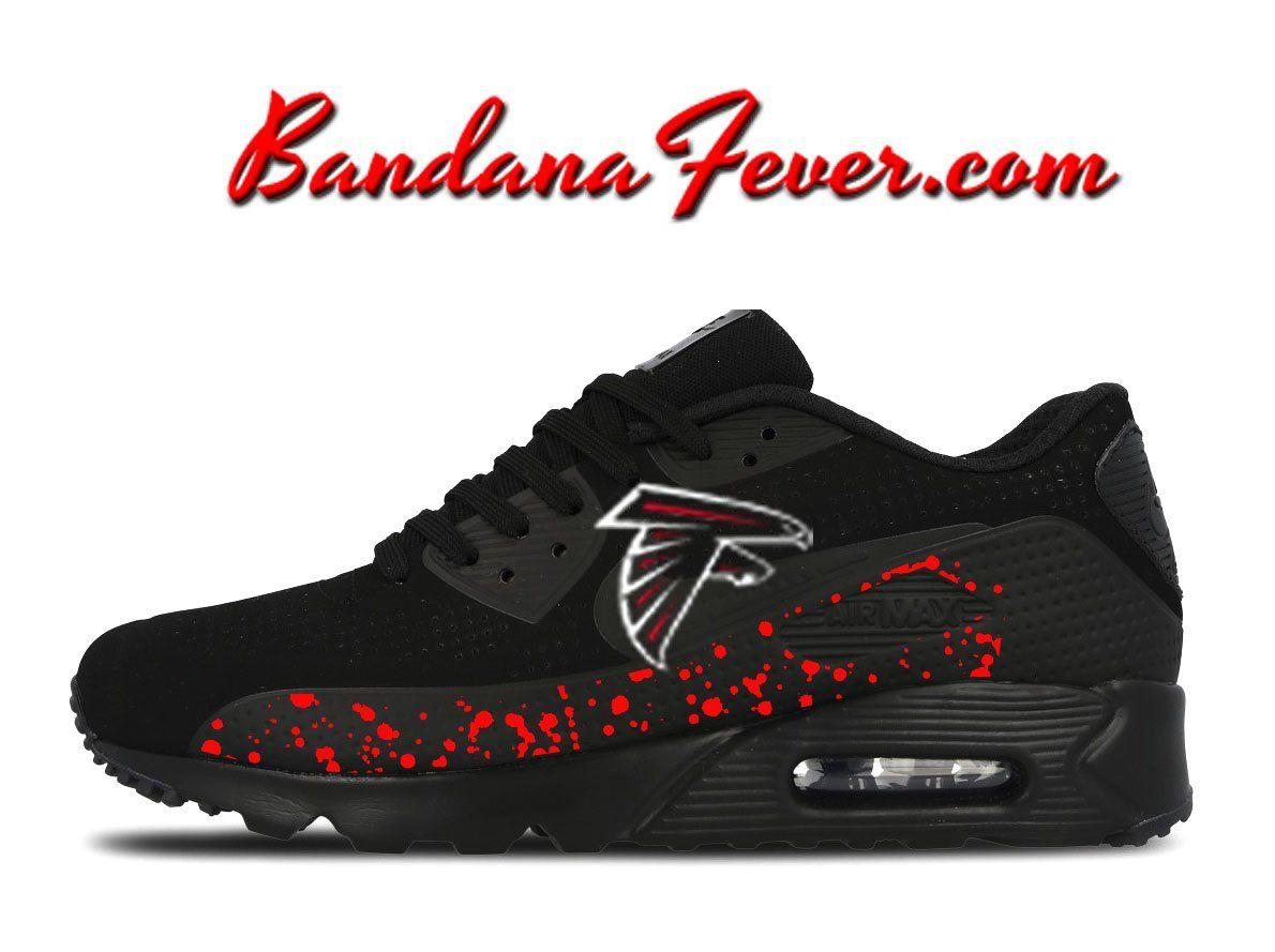 6e93bfd7690e Custom Big Falcons Nike Air Max 90 Shoes Black