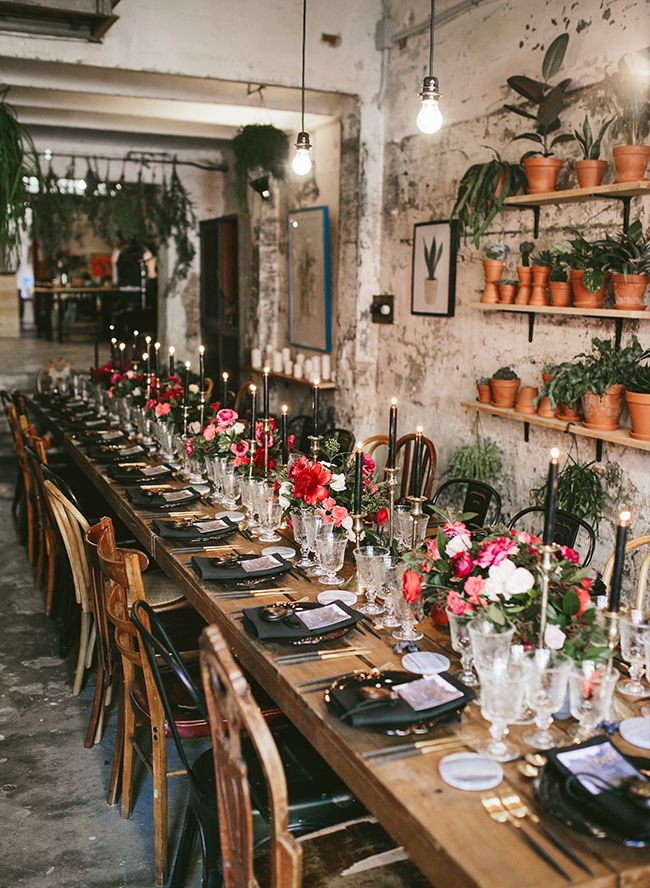 Intimate & Moody Botanical Wedding in Barcelona #dinnerideas2019