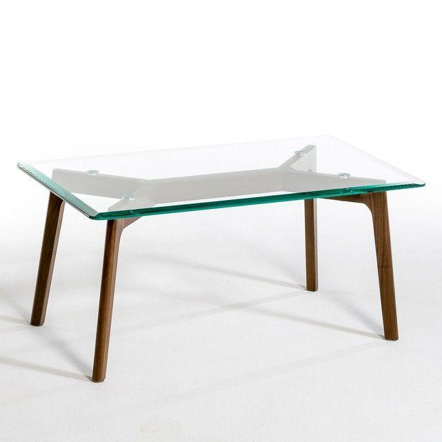 table basse verre et noyer kristal am pm o my wish list. Black Bedroom Furniture Sets. Home Design Ideas