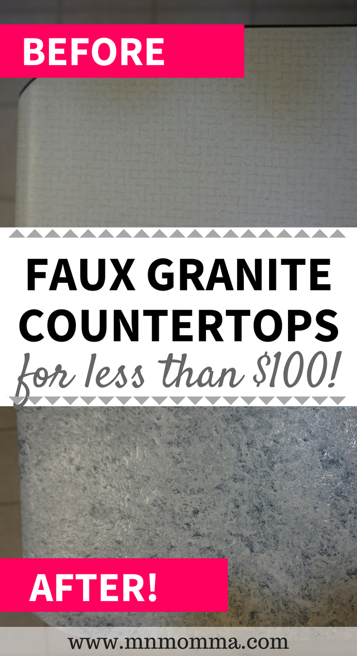 Diy Countertop Update Most Affordable Way To Fake New Countertops Faux Granite Diy Kitchen Countertops Granite Countertops