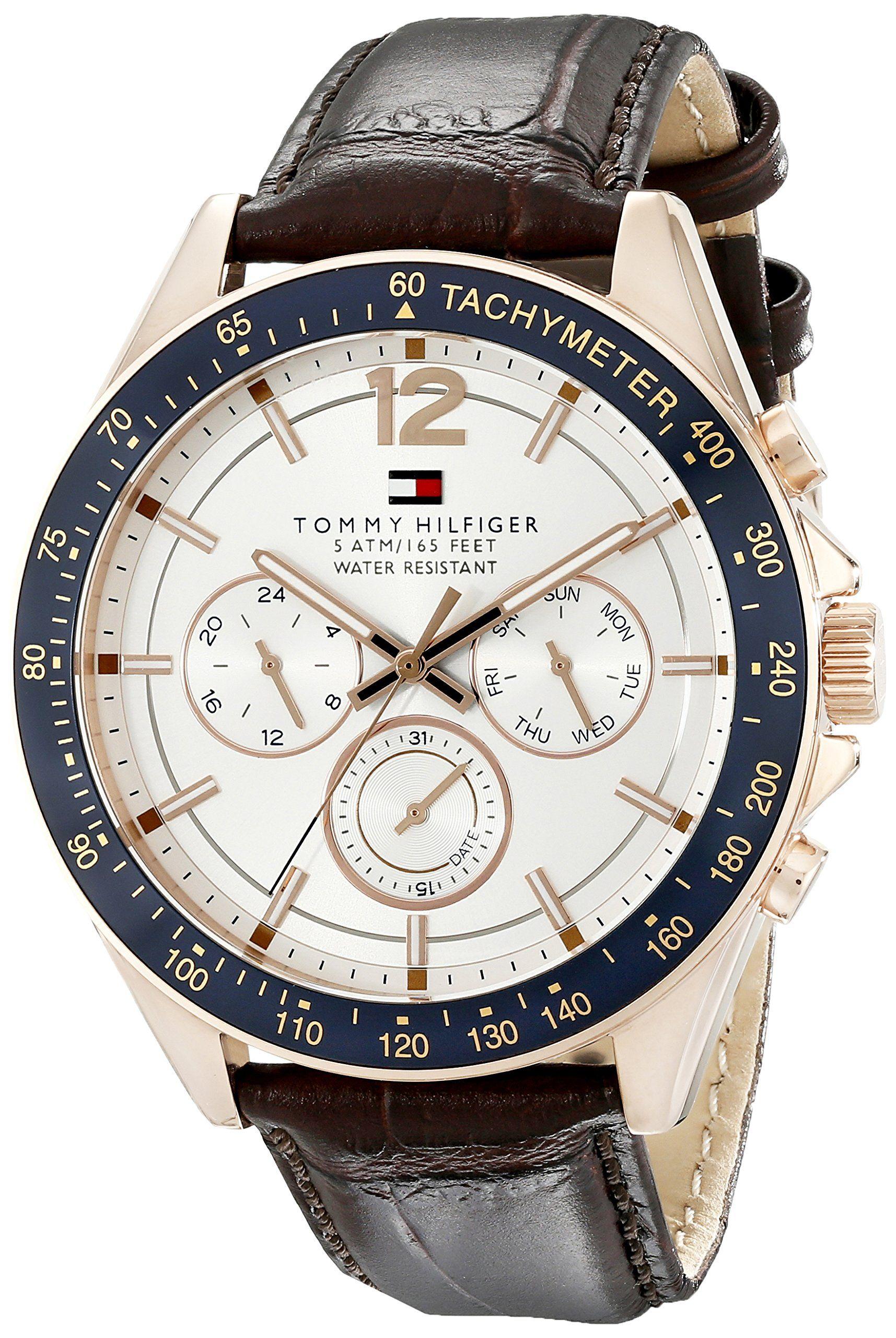 b5a953f96 Tommy Hilfiger Men's 1791118 Sophisticated Sport Analog Display Quartz  Brown Watch