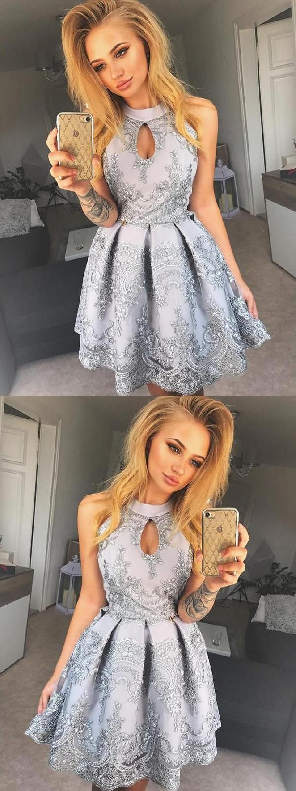 Outlet nice homecoming dress short homecoming dress vintage silver