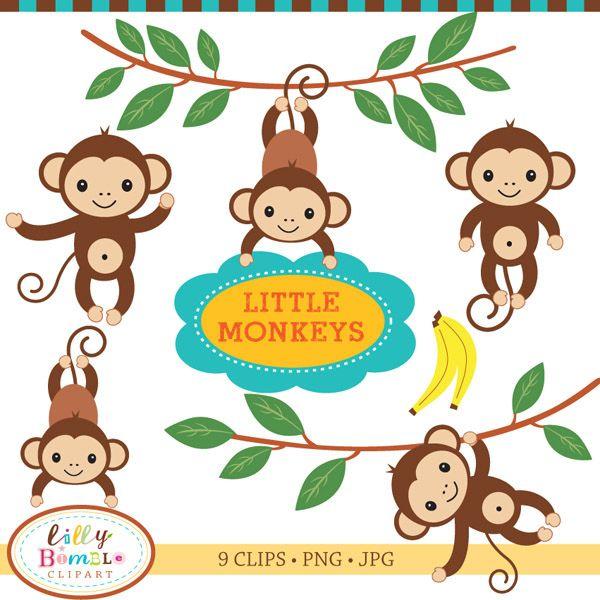 Little Monkeys Clipart   backgrounds   Little monkeys ...