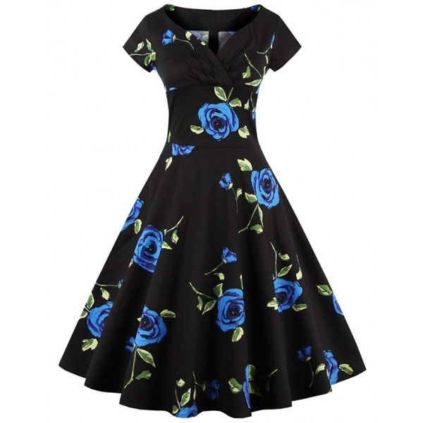 Foto vestido negro y azul