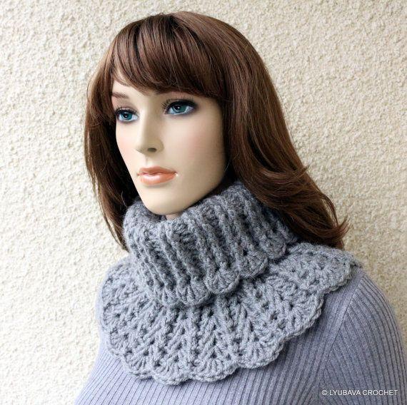 Crochet Neck Warmer PATTERN, Chunky Crochet Scarf DIY, Winter ...