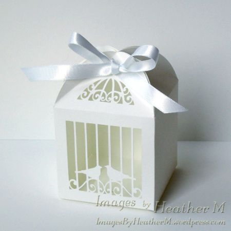 Free Birdcage Favor Box Svg Cutting File Throw A Heart Over Those Birds Or Use An Exacto To Cut The Out
