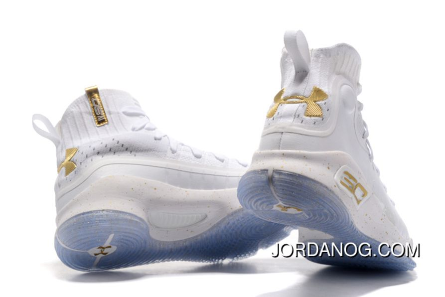 curry 4 gold white