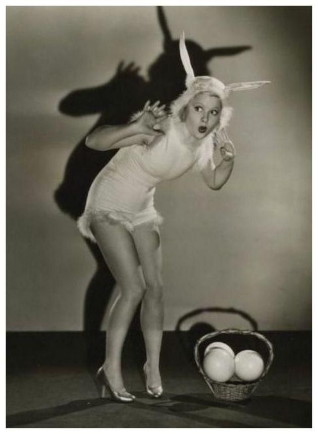 Retro Vintage Easter Bunny Pin Up