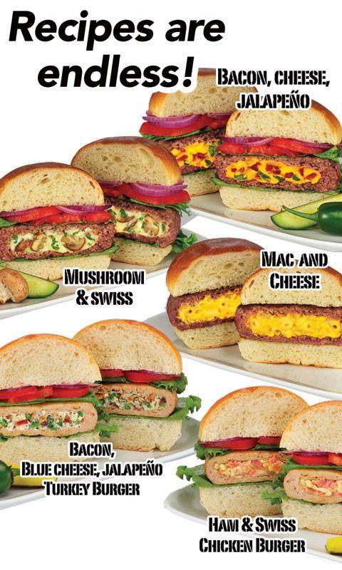 Stufz Stuffed Burger Maker Make Stuffed Burgers Like A Pro Recipes Food Cooking Recipes