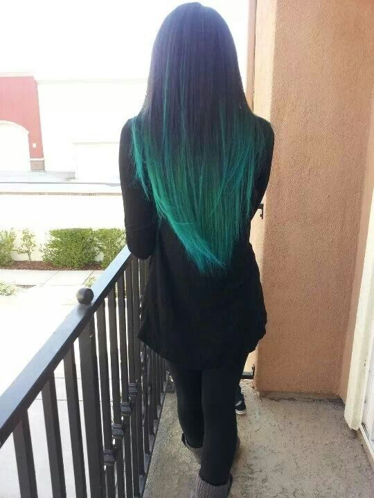 Awesome Teal Hair Might Be More Willing To Do An Ombre Like This One