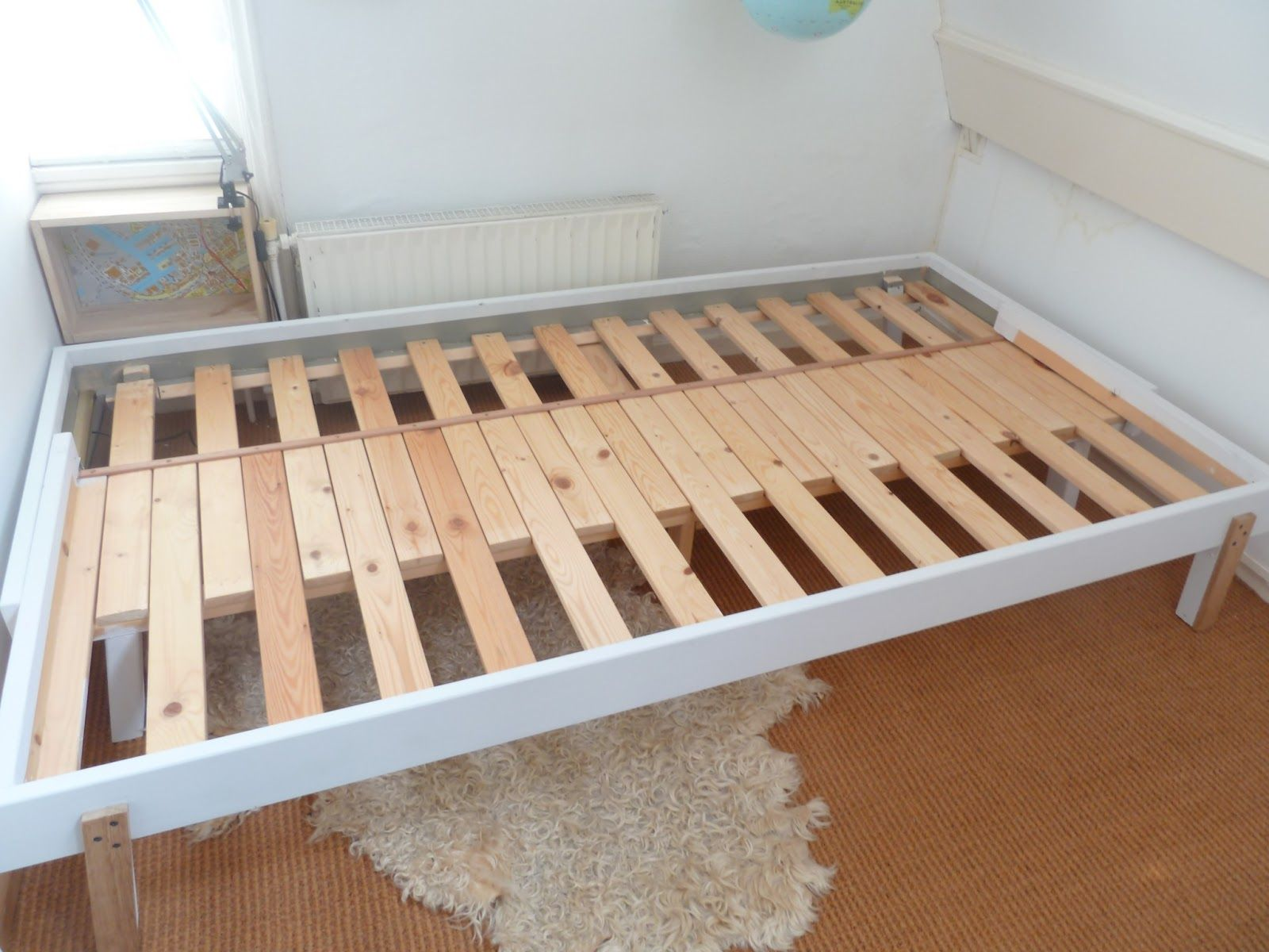 Practical Delights: Basic Ikea bed to pull-out bed / Rykene bed to ...