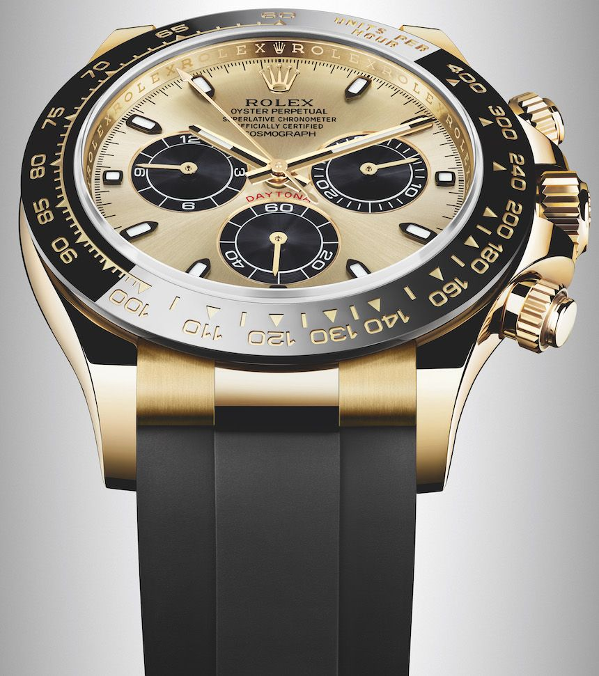 New Rolex Cosmograph Daytona Watches In Gold With Oysterflex Rubber Strap Ceramic Bezel For 2017 Ablogtowatch Rolex Watches Rolex Daytona Gold Rolex