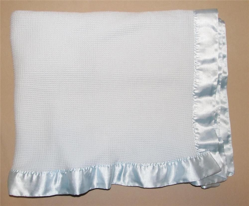 Bright Future Blue Waffle 100% Acrylic Thermal Baby Blanket Satin Trim  Infant  BrightFuture 4ae37dd25