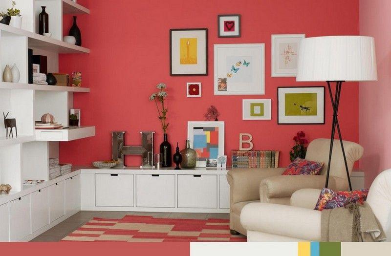 Wandfarbe im Wohnzimmer auswählen - Beeren-Nuance Room colours - wohnzimmer orange streichen