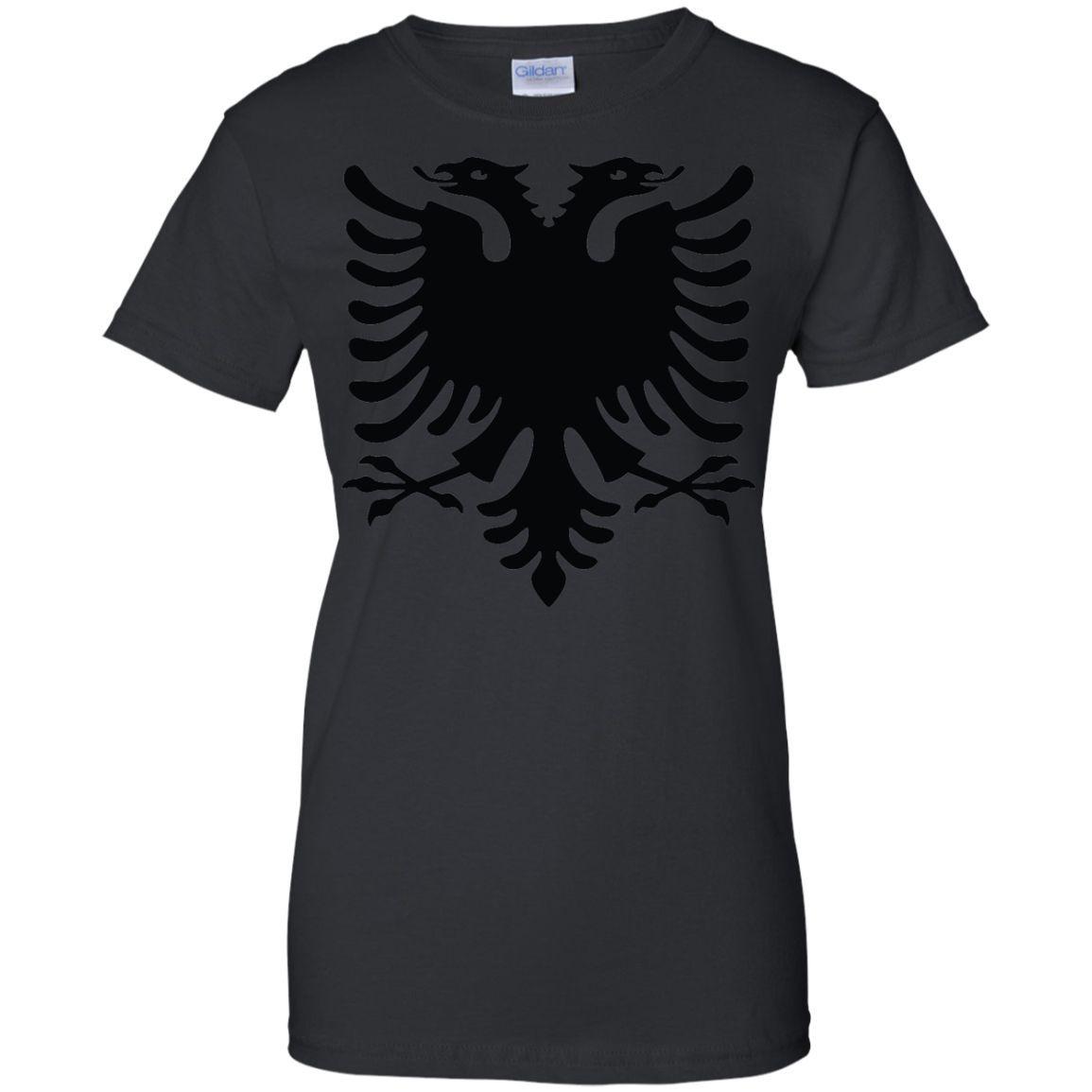 Albania flag 1-01 Ladies Custom 100% Cotton T-Shirt