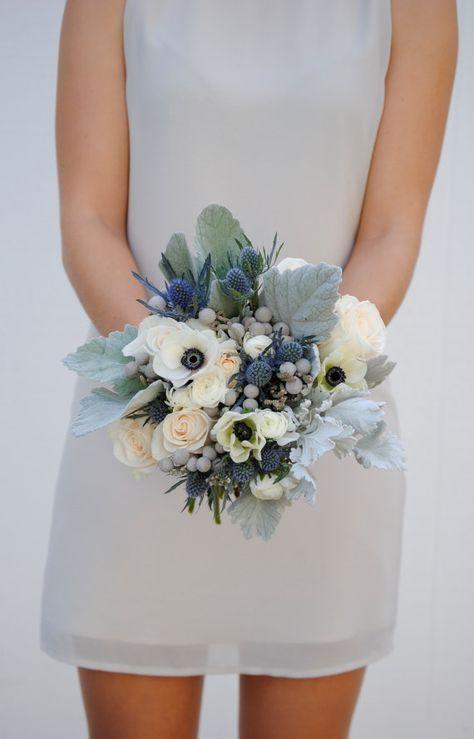 Navy Blue Wedding Flower Package Dusty Blue Wedding Anemone Wedding Flowers Blue Wedding Flowers Blue Wedding Bouquet Wedding Flower Packages