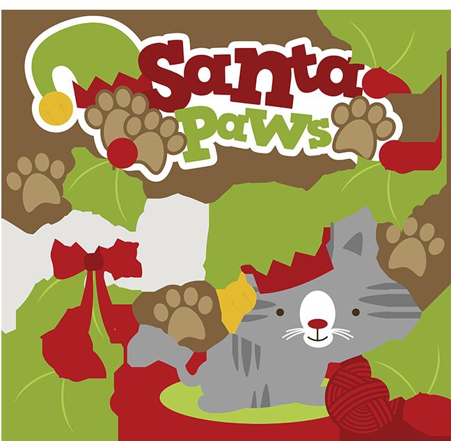 santa paws svg cat clipart cat svg cute cat clip art christmas svg rh pinterest com christmas cat clip art free christmas cat clipart black and white