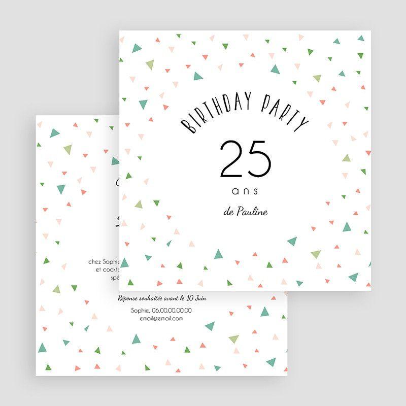 Invitation Anniversaire 25 Ans Lovely Invitation Anniversaire 25 Ans Di 2020