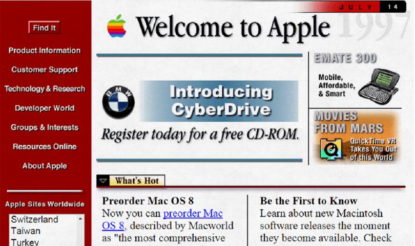 Top 10 Worst 90s Website Designs Apple 8 Web Design Quotes Website Design 90s Websites