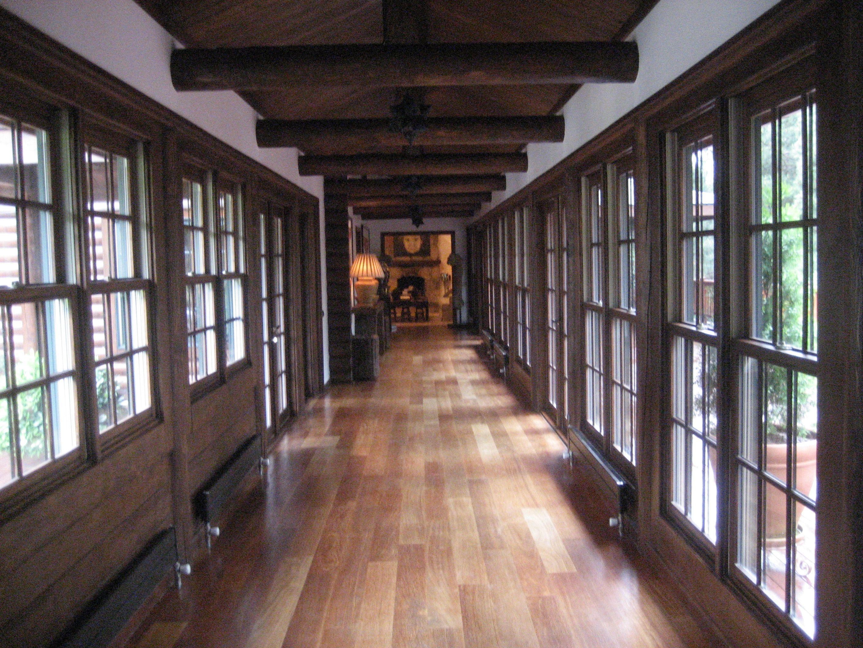 Hall in luxury log cabin, mountains near Istanbul, Turkey