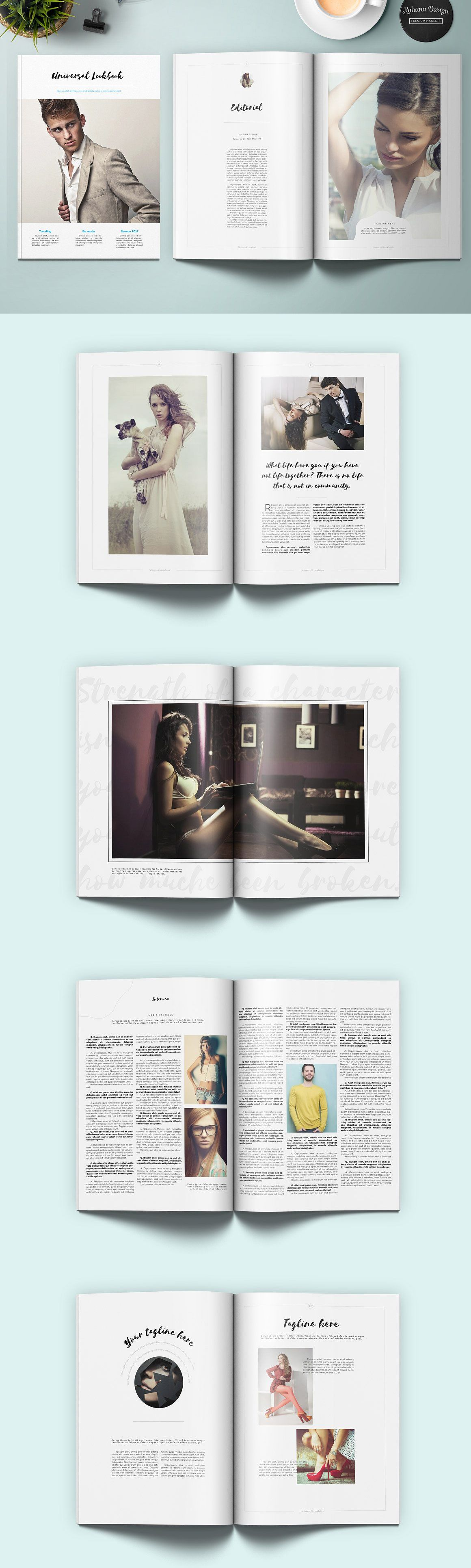 Great editorial layout template images gallery magazine layout universal lookbook layout template template and editorial layout maxwellsz