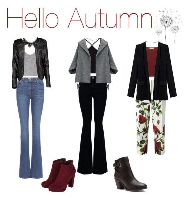"""Autumn 2015"" by aline11maria on Polyvore featuring moda, Frame Denim, Glamorous, Madden Girl, Valentino, Boohoo, Miss Selfridge, STELLA McCARTNEY, Dolce&Gabbana e Rebecca Minkoff"