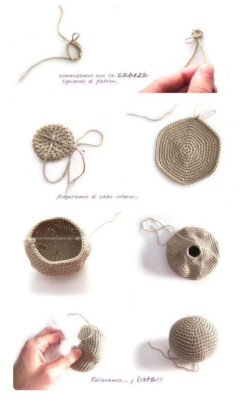 Peluche de crochet conejita de orejas largas - Amigurumi | costura ...