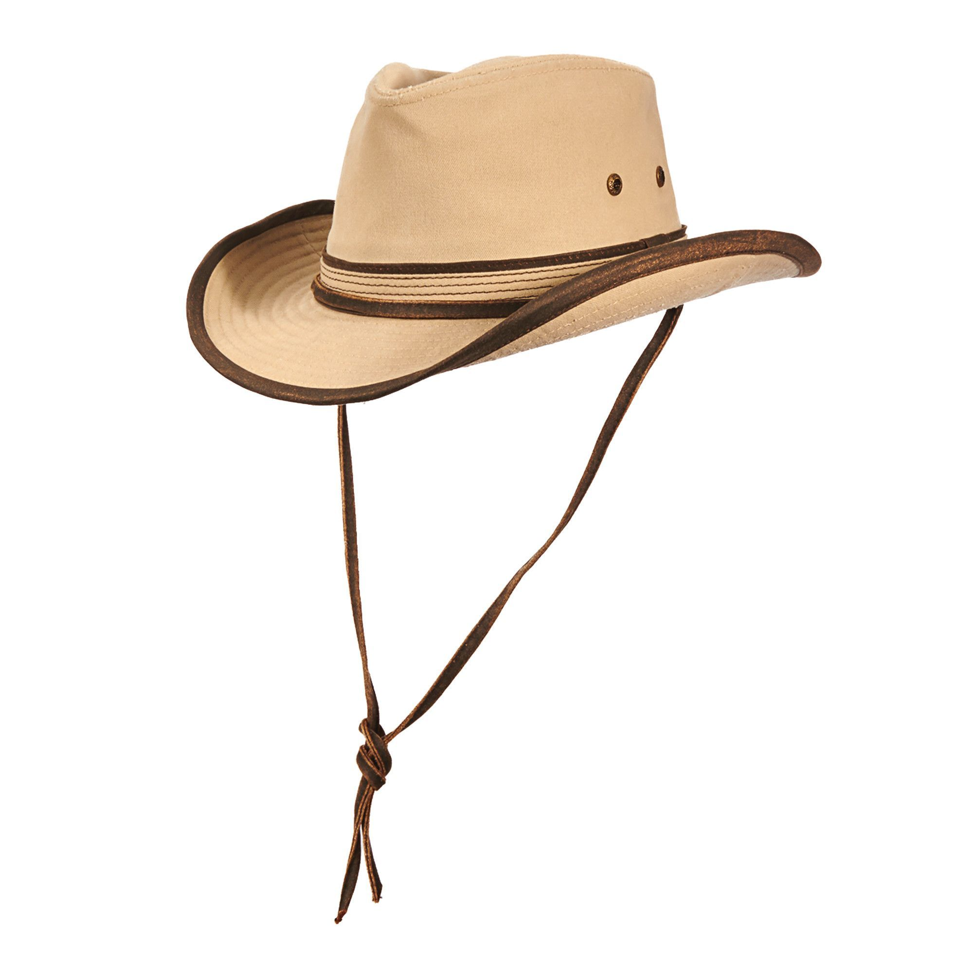 08320c9327c Stetson Garment Washed Twill Outback Hat