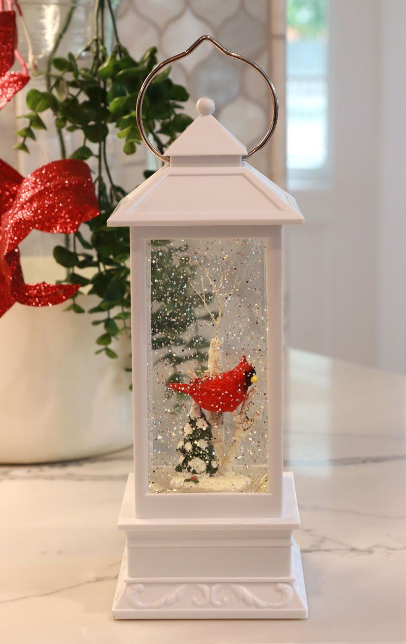 11 Inch Lighted Cardinal White Water Lantern Battery Operated 2359090 Christmas Lanterns Christmas Lamp Lanterns Decor
