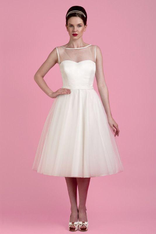 08bbe1488ea Short Wedding Dresses  Tobi Hannah - Affection Tea Length
